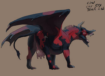 #1 Cow dragon Dragary by Black-Wing24