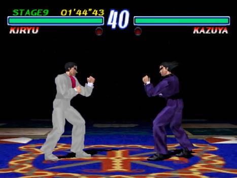 Kazuma Kiryu Vs Kazuya Mishima in Tekken 2 by AVGNJr1985