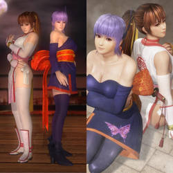 Kasumi and Ayane Classic Outfit Comparison by AVGNJr1985