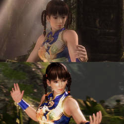 Leifang Blue Qipao Comparison in DOA5 and DOA6 by AVGNJr1985