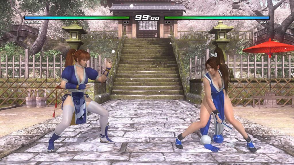 Kasumi Vs Mai Shiranui in DOA5 (Blue Outfit Match) by AVGNJr1985