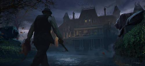 Victorian Murder Concept - Brothel Exterior by stayinwonderland