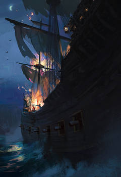 Pirate Ship by stayinwonderland