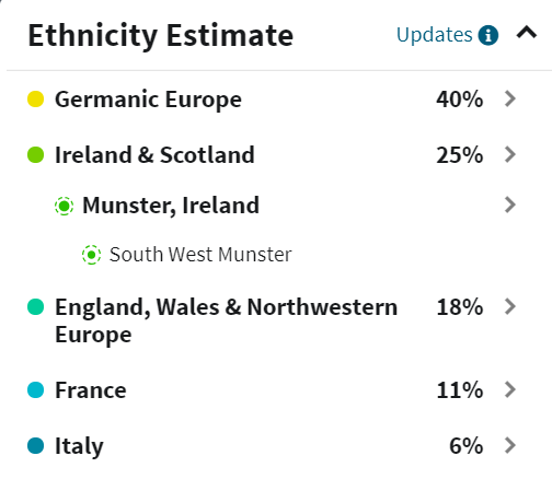Ancestry DNA results Updated by SusanLucarioFan16