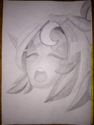Tyrande Drawing by WereElf