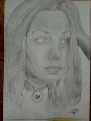 Girl portrait 2.b by WereElf