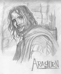 Aragorn - quick sketch by NightwishSoul