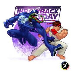 Venom VS Ryu by WEAPONIX