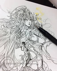 A pencil work by Hellobaby