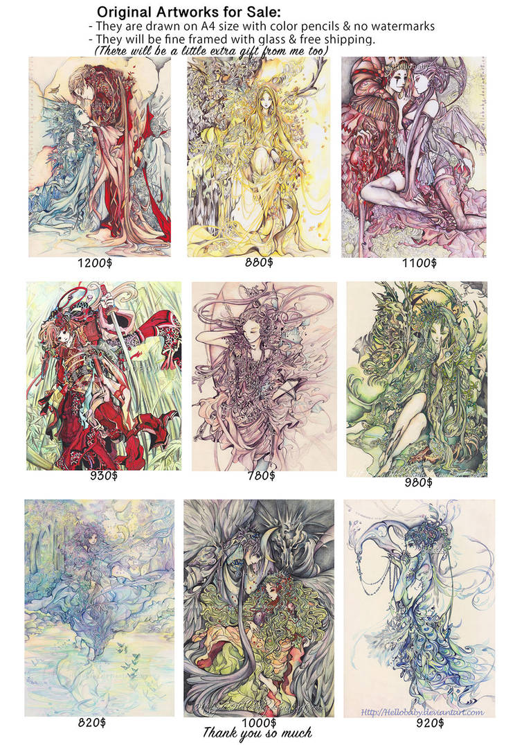 Original Artworks For Sale 2 by Hellobaby