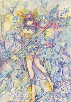 Nadeshiko - Butterfly Goddess by Hellobaby
