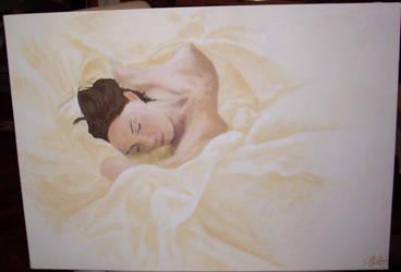 sleeping woman by A4Lien