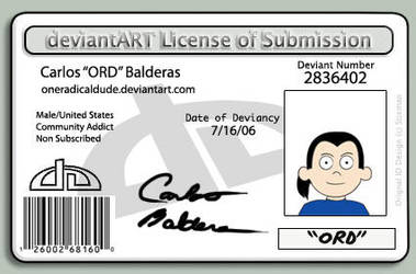 OneRadicalDude DA License by OneRadicalDude