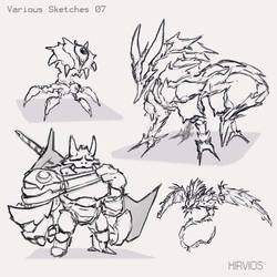 Various Sketches 07 by HIRVIOS