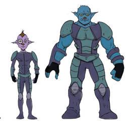 Alien Character Designs by dreno360
