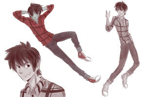 Marshall Lee doodles by cinash