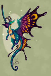 Fairy Dragon by DracoLuvian
