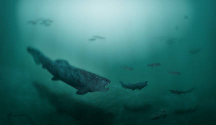 Prehistoric fishes of Australia by mixtix-freeman