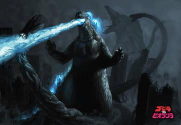Godzilla vs Biollante by SirHanselot