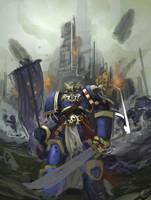 warhammer 40,000 ultramarine by faroldjo