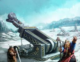 Warhammer Grugde Thrower by faroldjo