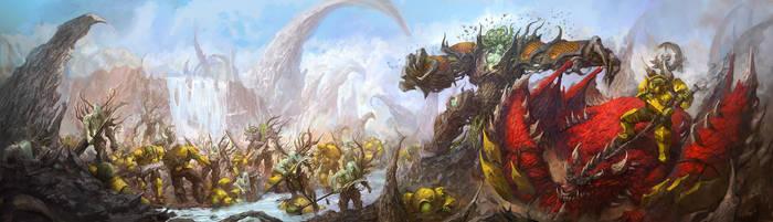Sylvaneth vs orkz by faroldjo