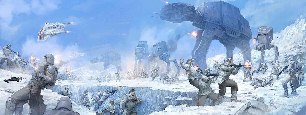 Battle of Hoth by faroldjo