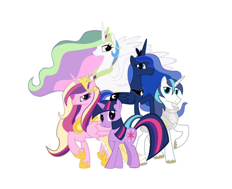 Royal Family With Color Mlp By Dizzasterr On Deviantart