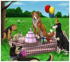 Furry Paws 5th Birthday by Idess
