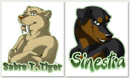 Saber and Sinestra Badges by Idess
