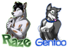 Raze and Gentoo Badges by Idess
