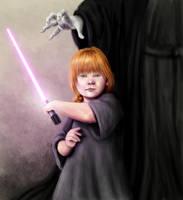 Mara Jade - 5 years old - Assassin in Training by Xaliryn