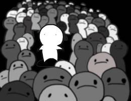alone in a crowd by aznweirdo