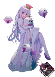 Boo And Princess King Boo render by Tomoe-Waterfox