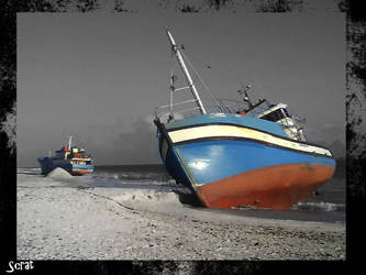 Boats Stranded by Scrattii