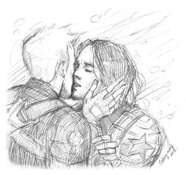 Steve Rogers / Bucky Barnes  (Stucky) by Taking-meds