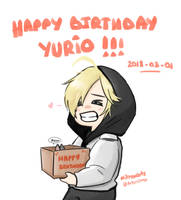 HAPPY BIRTHDAY YURIO !!!! by NitroxArts