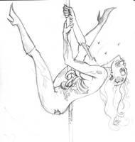 Zombie Stripper Sketch by jasonbarton