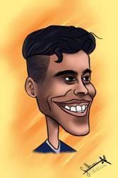 Caricature - Wendell Lira by Desenheiro9