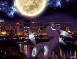 Urban Shiny Umbreon by NChicaGFX