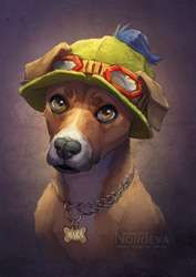 Maka - pet portrait by Nordeva