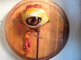 detached eye brain plaque by oddhatter