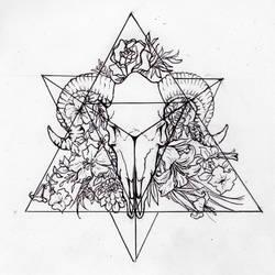 Tetrahedron (Personal Tattoo Design) by morgan96k