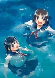 Swim in the seaside by kskb