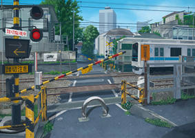 Railroad Crossing 1 by kskb