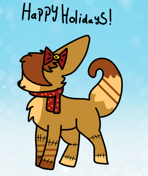 Scarlet - Happy Holidays by Stone-The-Furry-Fox