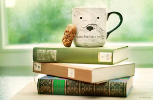 books, coffee and a cookie by mefotografie