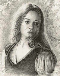 Eowyn - Sketch by Esteljf