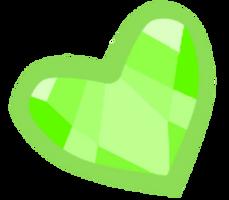Green heart gem by xXShinyLeafXx