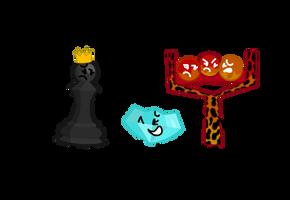Pawn and Diamondy and Magma Slingshot by xXShinyLeafXx